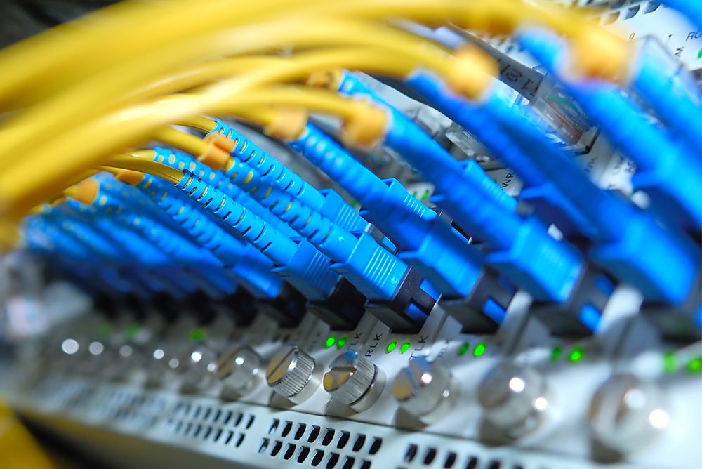 network cables in server